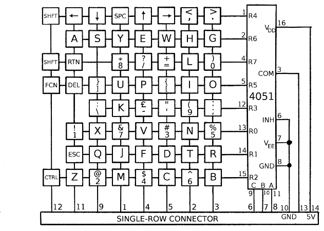 keyboard wiring diagram